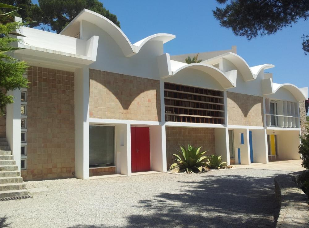 Prise de vue du bâtiment de la Fundació Pilar i Joan Miró.